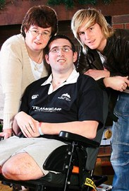 Ben with his Mum Diane and twin Danny