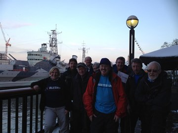 149 Miles and smiling.. at HMS Belfast