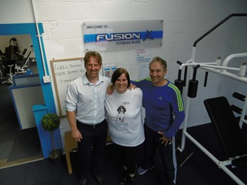 At the 3 stone mark with Paul (Life Coach) and David (Gym owner)