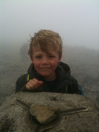 At the top of Ben Nevis: 1 down, 2 to go