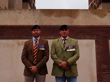 My Dad and his brother at the Somme.