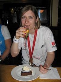 Champagne, Cake & Medal :)