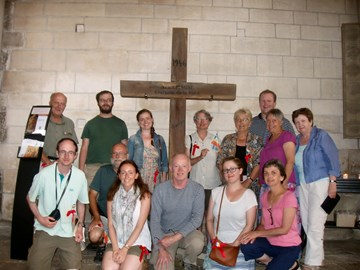 With the German POW cross in the Basilica in Vezelay