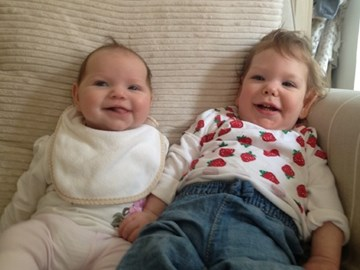 Indie (on right) with baby sis Domini !