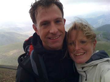 ...in training, on top of Snowdon!