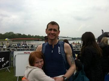 Eton Sprint Tri 2012 finish with Minnie