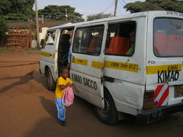 This is a standard Kenyan matatu minibus like the one we'd like to buy for GEC
