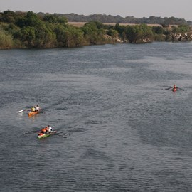 Our three boats in 2011 on the Zambezi