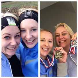 Before and After the Gayton 10k 25/01/2015