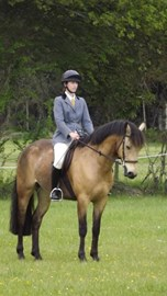 Out and about with my own horse - not for quite as long as my Challenge!