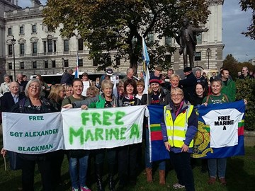 Some of our RM mums supporting Sgt Al in Parliament Square