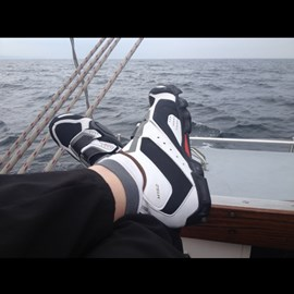 Getting a bit worried though as I am having to wear the new cycling shoes sailing as they just arrived on Monday and their a bit uncomfortable still