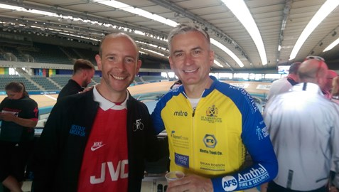 Olympic Velodrome, me and an Arsenal/Fifa legend!
