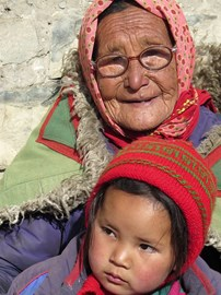 Helping in the Spiti Valley with new glasses