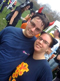 Simon and Nat after the Hove Parkrun