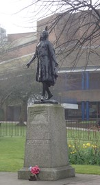 Said Hi to the Pocahontas statue and Memorial in Gravesend as I left the Thames