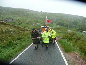Barra last year in Storm force winds