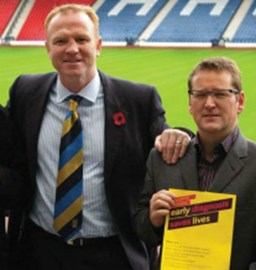 Peter with Alex McLeish