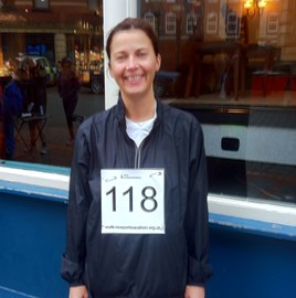 Check out my race number - all I need now is a moustache!!