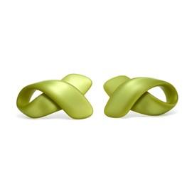 Bow Earrings shown in Lime Pearl