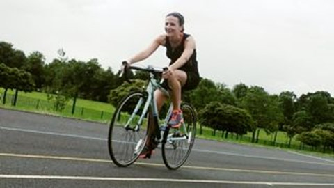borrowing Paula's ace new bike