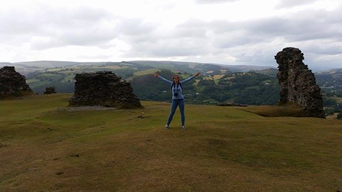 2km hike from Llangollen to the top of Castell Dinas Bran