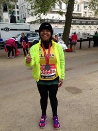 Clesia Mendes 26 April 2015 London Marathon