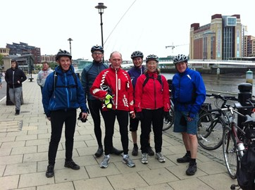 C2C Team on Newcastle Quayside