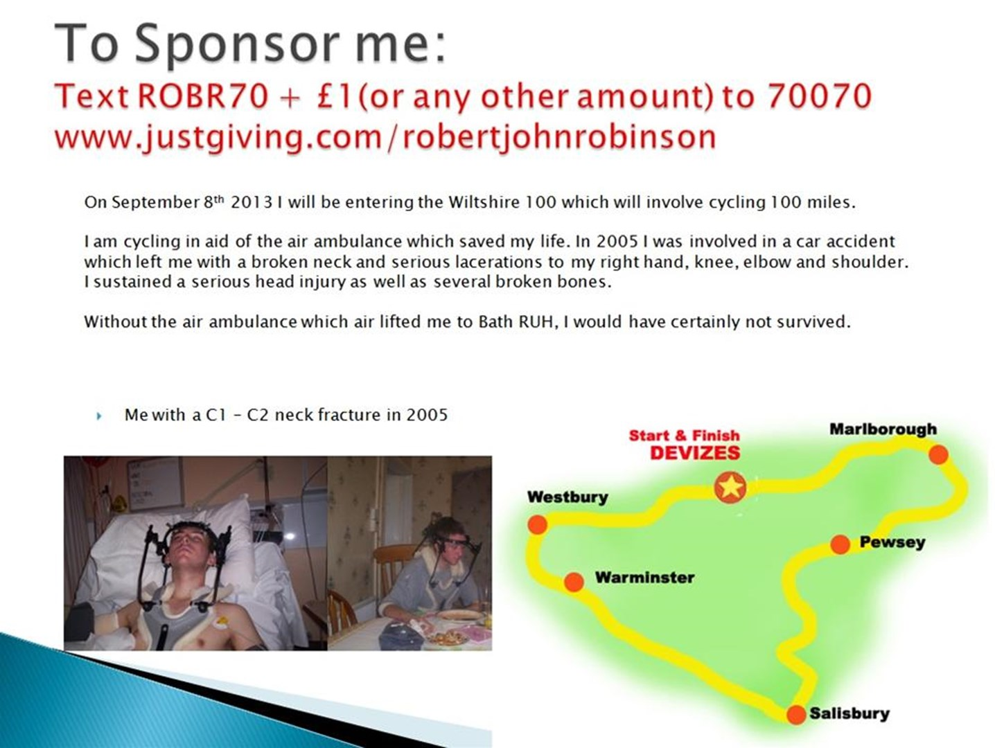 robert robinson is fundraising for Wiltshire Air Ambulance