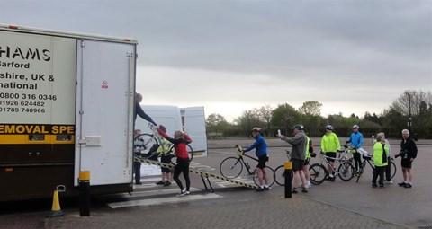 Loading bikes in Stratford