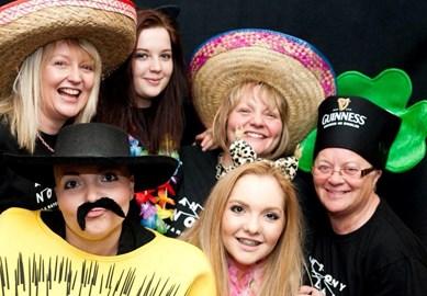 Catherine and her family photobox fun