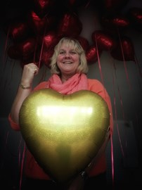 27 red balloons 1 gold set off for Nic's 28th birthday. A donation was made for each balloon £110 raised!!!