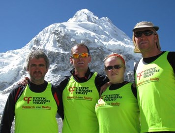 Stephen, Barry, Jodie, Guy at Everest