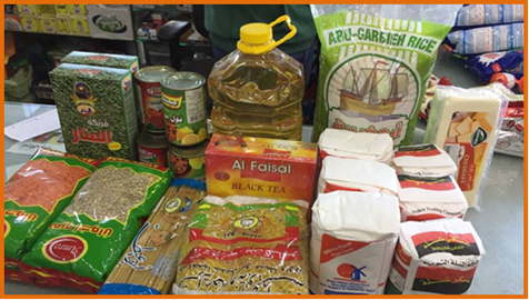 Contents of Food Parcel