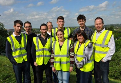 STEPPING OUT: SOME OF THE INTREPID SMD STAFF MEMBERS WHO WILL BE TAKING PART IN CHARITY EVENTS THIS SUMMER, FROM LEFT, JONATHAN FLEETWOOD, JAMIE TURNER, PETE WATKINS, DAN WILLIAMS, THOM RIGDEN, ROSIE SHARPE, PHIL MCGEEHAN, TRACEY TYNAN AND KEITH GRANGE.