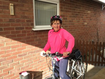 In training; just back from a 20 mile ride!