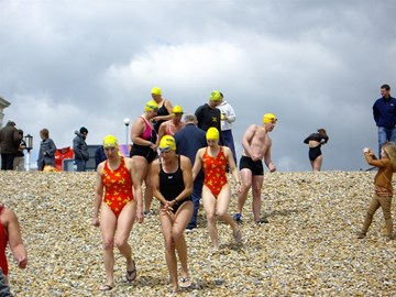 off for final (5th) swim, Dover, 13 may