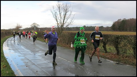 Finishing the Tatton Yule Yomp (10km) in 2014