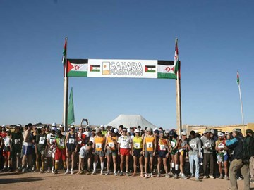 start of the Sahara Marathon