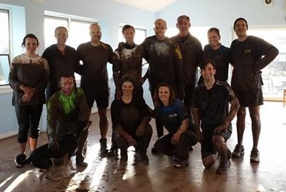 Tough Mudder team in training
