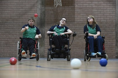 The Northern Ireland Boccia Squad in Action