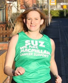 Ready in my Macmillan vest! April 2013