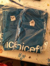 our UNICEF t-shirts arrived!