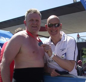 Me & Duncan Goodhew at Finish