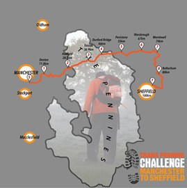 The route. Walking 100K (62 Miles) 24Hrs