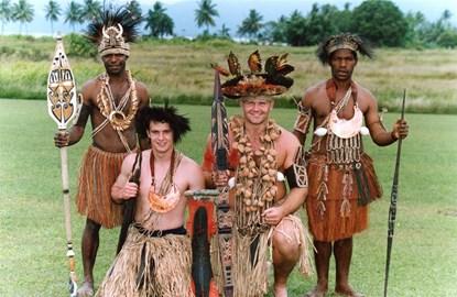Me n Precky in Papua New Guinnea 1996