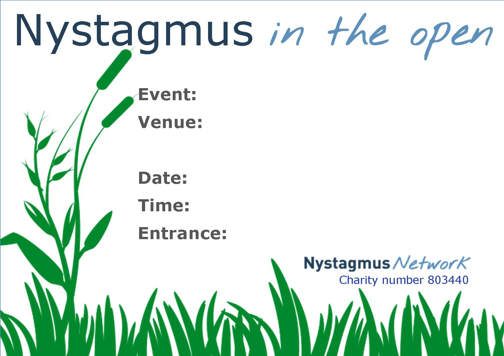 nystagmus in the open - JustGiving