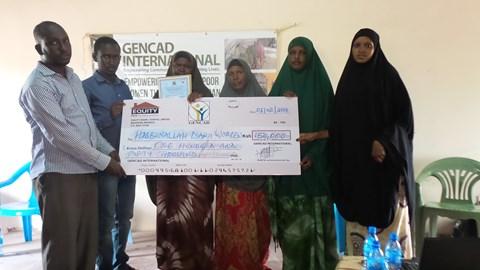 Women groups receiving money