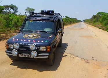 Zambian potholed roads
