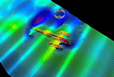 Sonar scan of the Do-17 on Goodwin Sands